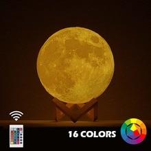 Dropshipping 3D Print Moon Lamp 20cm 18c