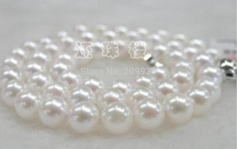 FREE SHIPPING>>>@@ AS3551 11-12mm AAA NATURAL SOUTH SEA GENUINE WHITE ROUND PEARL NECKLACE