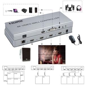 Image 2 - ビデオウォールコントローラ 2 × 2 1 HDMI/DVI 入力 4 HDMI 出力 4 4K テレビプロセッサ画像ステッチ 4 テレビ番組スクリーンスプライシング