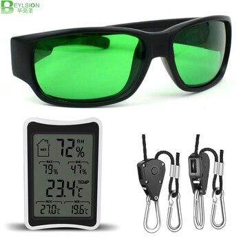 BEYLSION LED Grow Room Glasses UV Rope Ratchet Yoyo Lamp Hangers Digital LCD Thermometer Hygrometer For Led Grow Light Tent Lamp