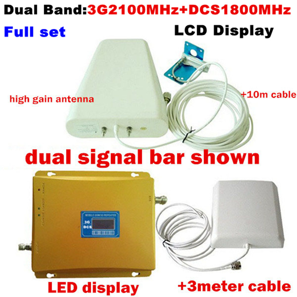 LCD 4G DCS LTE 1800MHz repeatr 3G 2100MHz Dual Band Signal Boosters Powerful DCS WCDMA UMTS Cell Phones Mobile Signal RepeaterLCD 4G DCS LTE 1800MHz repeatr 3G 2100MHz Dual Band Signal Boosters Powerful DCS WCDMA UMTS Cell Phones Mobile Signal Repeater