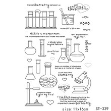 ZhuoAng Experimental tube/laboratory Transparent and Clear Stamp DIY Scrapbooking Album Card Making DIY Decoration Making zhuoang plant greeting card transparent and clear stamp diy scrapbooking album card making diy decoration making