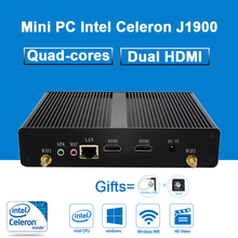 Mini PC Intel Celeron J1900 Quad-cores 4G RAM Fanless Micro Desktops Computer Household Nettops Dual HDMI 150M WIFI Windows 10