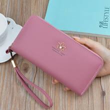 Wallets Women Long Zipper Luxury Brand Leather Coin Purses Tassel Design Clutch Wallets Female Money Bag Credit Card Holder  280 цена 2017