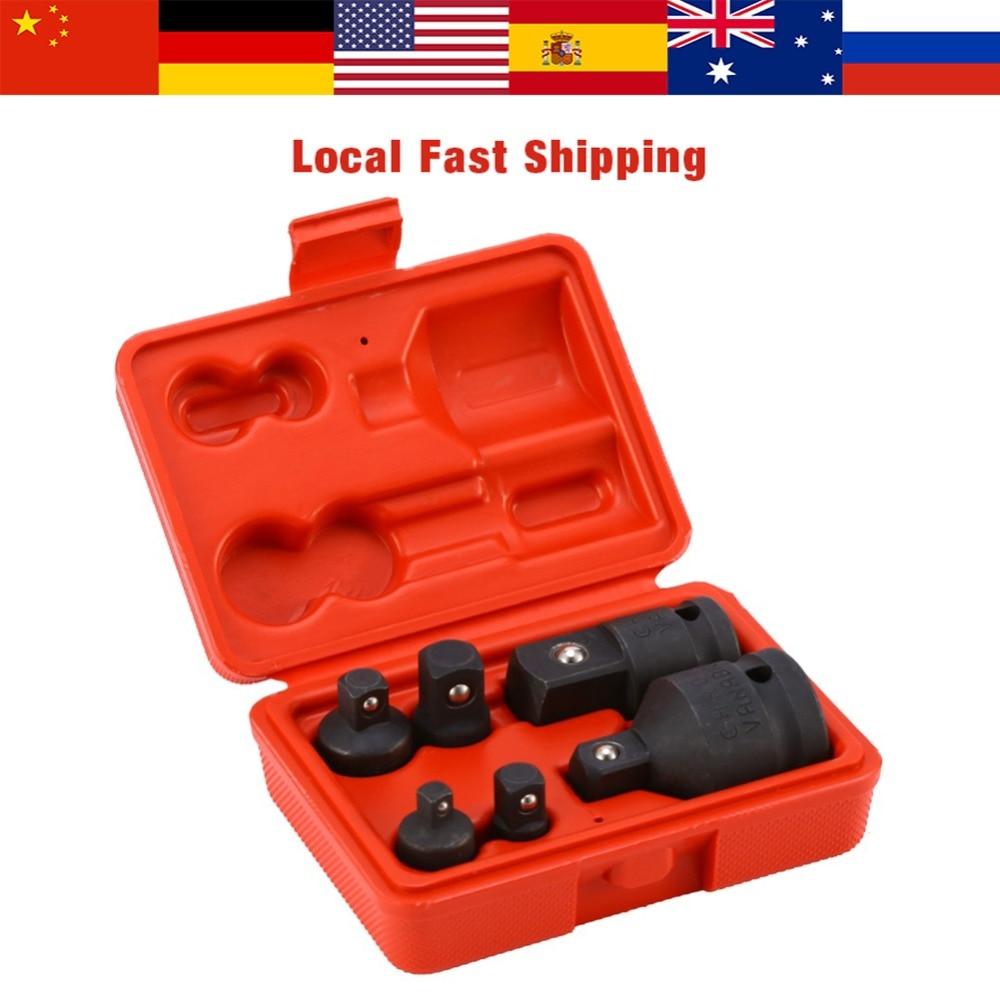 Impact Reducer /& Adapter 6pcs Socket Wrench Set 1//4 3//8 1//2 Drive Air Ratchet