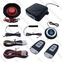 Smart Key ПКЕ Автосигнализации Пассивный Keyless Entry Remote Start Stop кнопка Старт Авто Arm Disarm W Сервисный Режим и Режим Отключения Звука