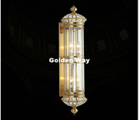 Free Shipping Retro Brass Lamp AC 110V~220V Indoor/Outdoor Bronze Wall Lighting D25cm H100cm Antique Bronze Living Room Lights