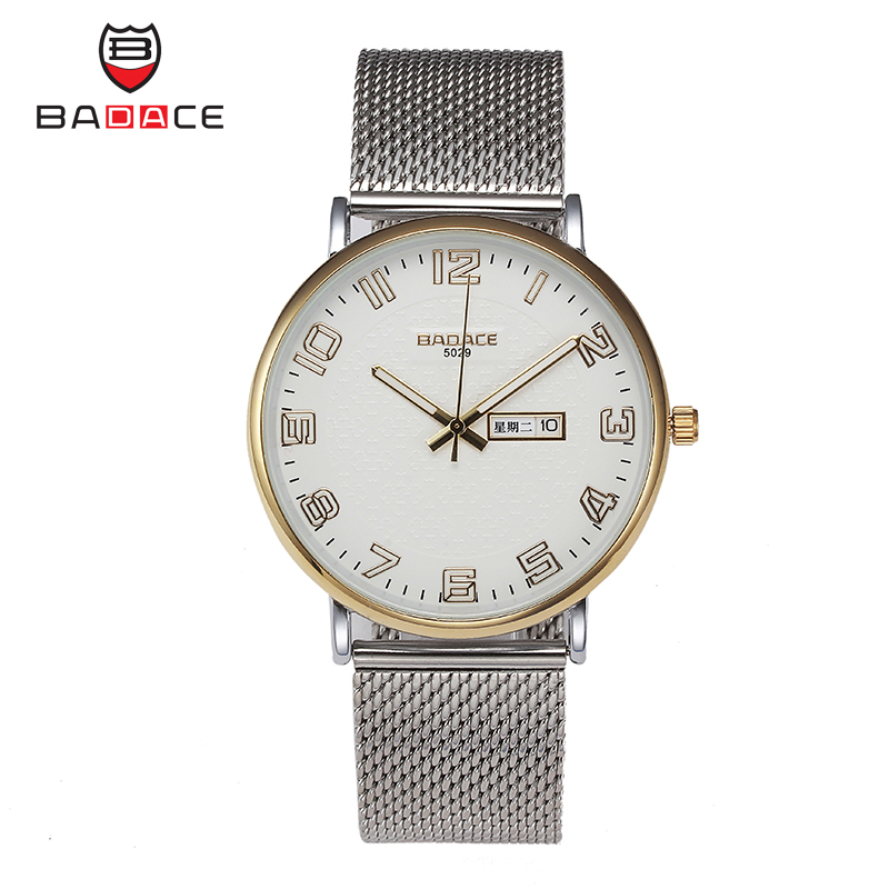 2016 Fashion simple stylish Top Luxury brand Watches men Stainless Steel Mesh strap band Quartz-watch thin Dial Clock man шина пильная husqvarna 18 3 8 1 5мм sn 5859508 68