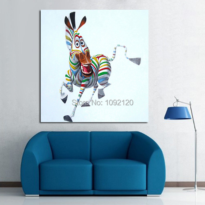 Hand Painted Happy Little Ass Hot Sell Low Price Wall Art Home Decoration Living Room Decor
