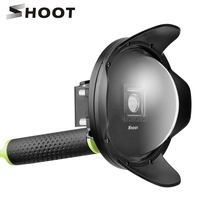 SHOOT 6 Inch Sunshade Dome Port For Xiaomi Yi 4K 4K Lite Action Camera With Grip