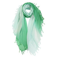 100 Cashmere Scarf Women Green Gradient with Fringe Cashmere Scarf Shawl Fashion High Quality Hot Selling Free Shipping