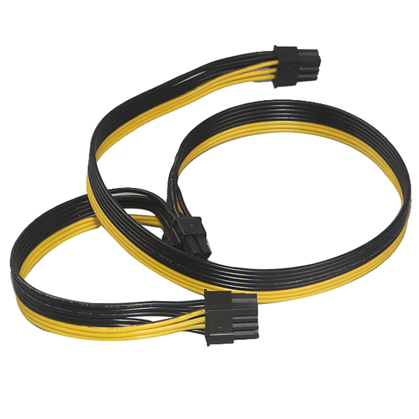 Hot Module 6Pin to Dual PCI-E PCIe 8Pin + 8Pin ( 6+2Pin ) Power Ribbon Cable Cord 20cm + 20cm for Thermaltake Tt 650 W0163 PSU 20cm 60cm pci e gpu 8pin male to dual 8pin 2 6 male video card extension power cable 18awg y type ribbon cable