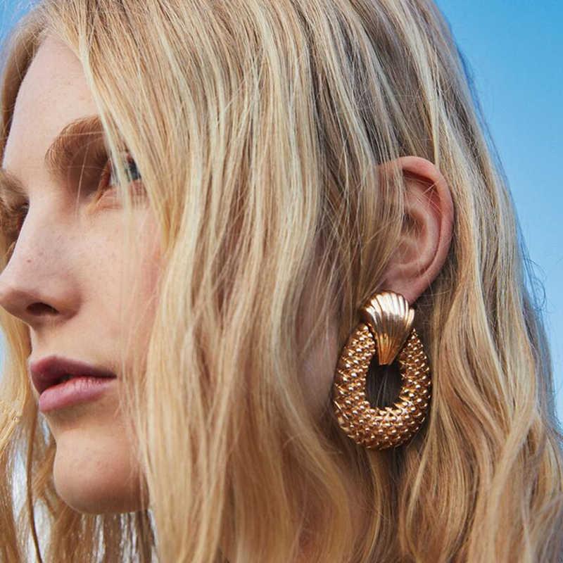Miwens 32 Design Za Metall Harz Kristall Ohrringe Frauen Trendy Big Baumeln Ohrringe 2019 Heißer Großhandel Fabrik Schmuck A129