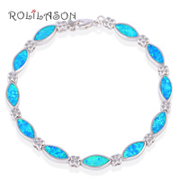 Hot Sale Wholesale Retail Blue Fire Opal 925 Sterling Silver Fashion Jewelry Bracelets Beautiful Gifts OB019