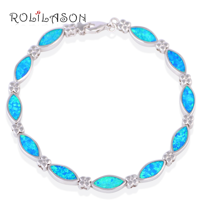 Graduation Gifts <font><b>Hot</b></font> <font><b>Sale</b></font> <font><b>Wholesale</b></font> & retail Blue fire Opal Silver Fashion Jewelry Bracelets <font><b>Beautiful</b></font> gifts OB044
