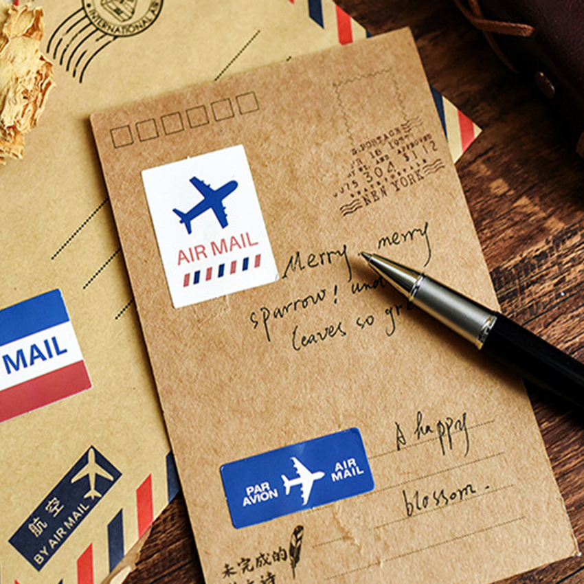 20packs/lot Vintage Air Mail Retro Air Letter sticker DIY decoration stickers diary album scrapbooking planner label stickers