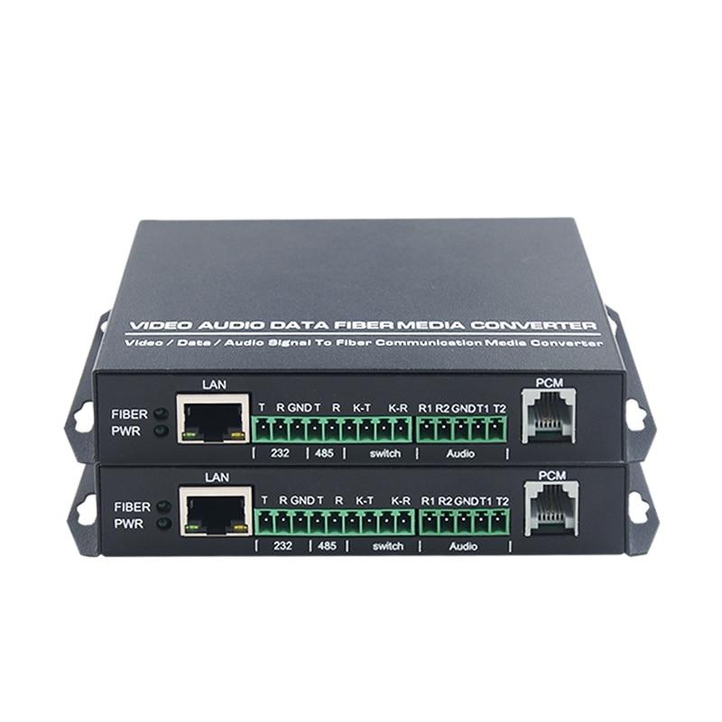 1 пара Переключение аудио сети 485 телефон 232 Многофункциональный оптический приемопередатчик волоконно оптический приемопередатчик одно в