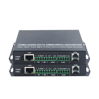 1pair Switching audio network 485 telephone 232 multi function optical transceiver fiber optic transceiver single fiber single m