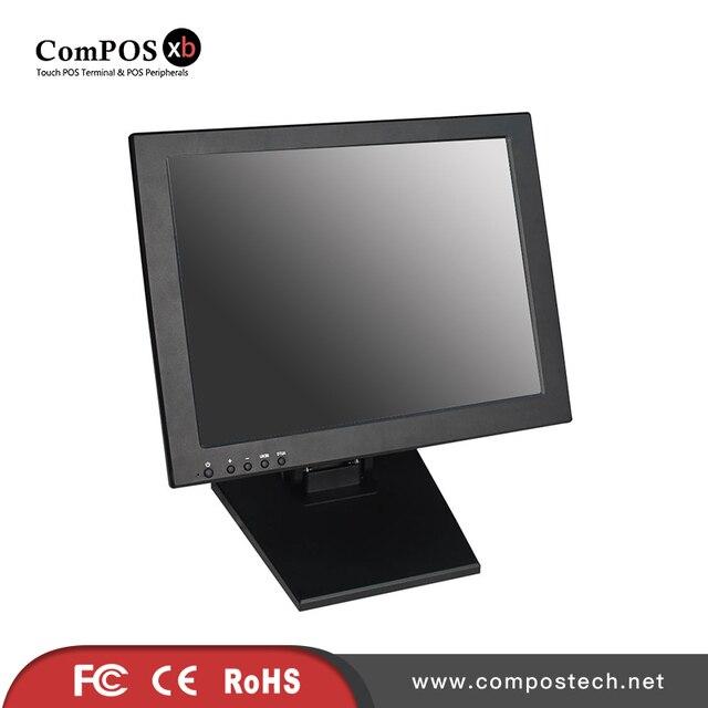 Livraison gratuite 15 ''pouces VGA TFT lcd écran tactile moniteur avec socle POS avec écran tactile résistif à 5 fils 2