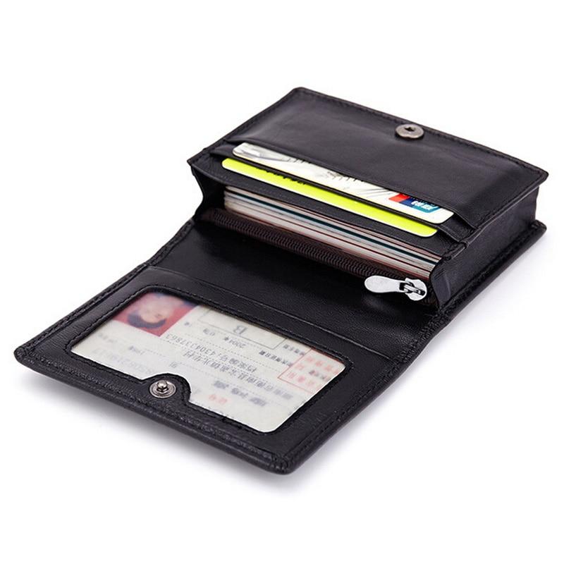Unisex Leather Pocket Case Business ID Credit Card Money Wallet Holder Purse