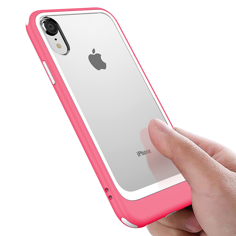 For iPhone XR Case Ultra Slim Hybrid Shockproof Cover Clear Hard PC Flexible TPU Rugged Phone Cases for iPhone XR XS XS MAX Capa iPhone XR