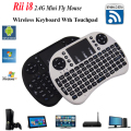 Israel Hebreo Teclado Inalámbrico Mini i8 Air Mouse Ruso Multimedia reproductor de Control Remoto Touchpad para Android Smart TV Box Mini PC