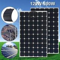 CLAITE 300 В Вт 18 в панели солнечные пластины Гибкие Солнечное зарядное устройство для автомобиля батарея В 12 Sunpower монокристаллические кремниев