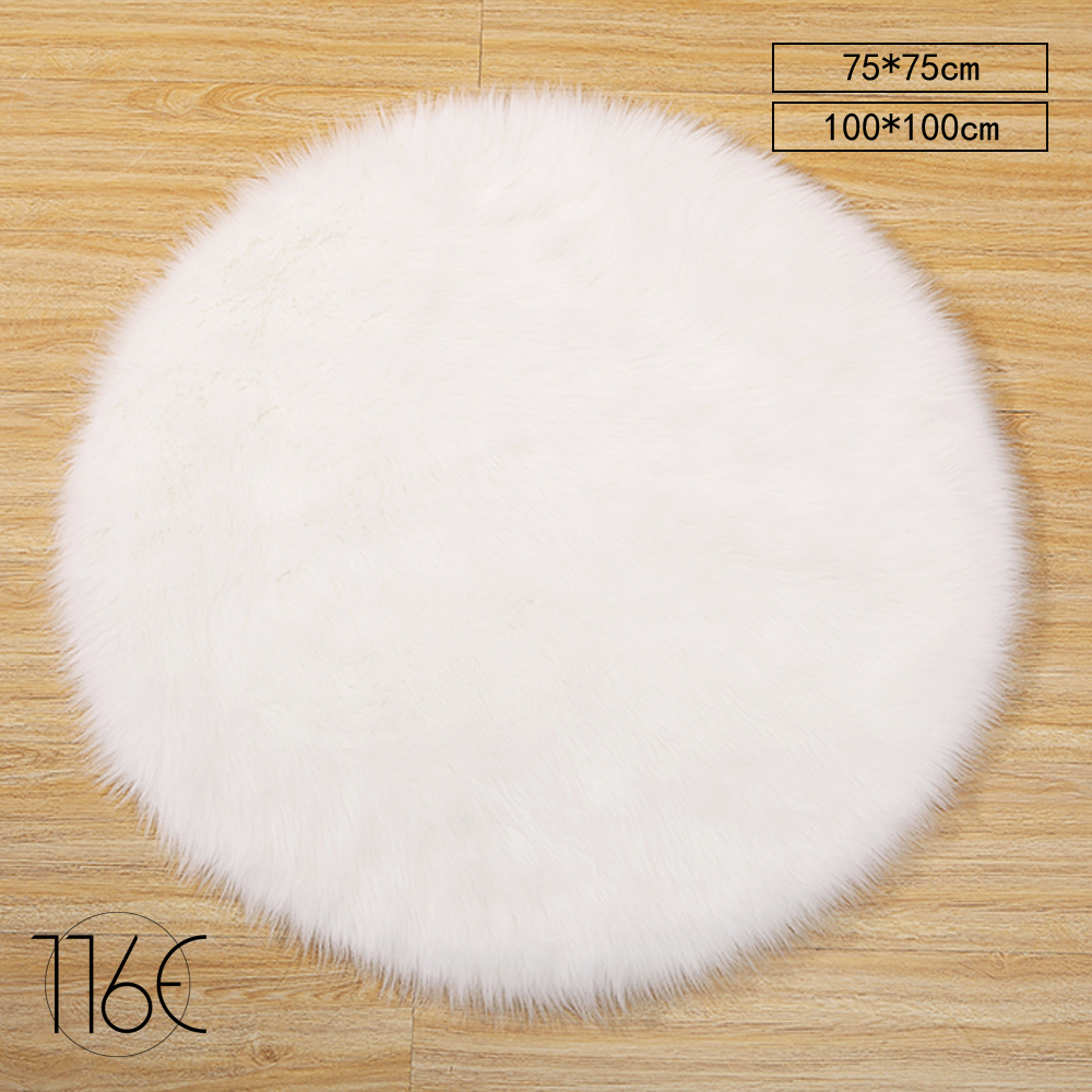 116E Moderne Tapis Maison Tapis Pour Salon SHAGGY Blanc Animal EN FAUSSE  FOURRURE SAN RDWH
