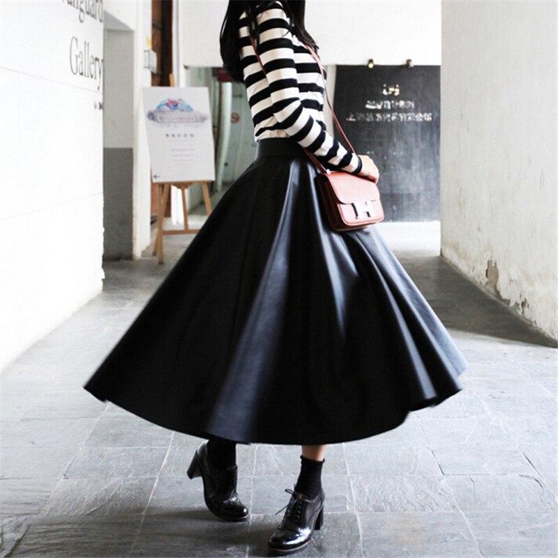 10xl 2019 Vestido Mujer Sólido Pu Imitación De Faldas Wbctw Tamaño Plus Xxs Taille Cuero Jupe Falda Sexy Negro Primavera Moda wBXqZZx47