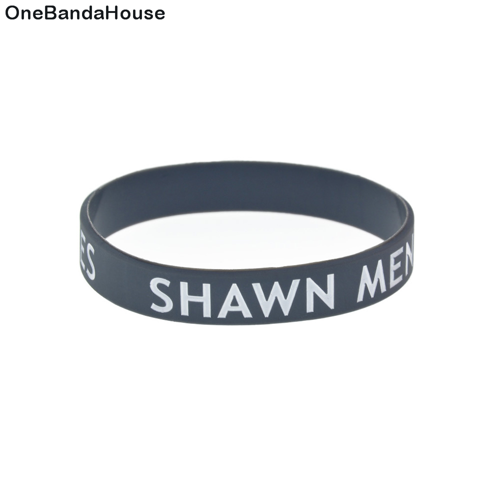 1PC 8 Inch Long SHAWN MENDES Silicone Rubber Wristband For Music Fans