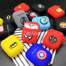 Hot Cartoon Wireless Earphone Case For Apple AirPods Silicone Charging Headphones Cases For Airpods 2 Protective Cover(China)