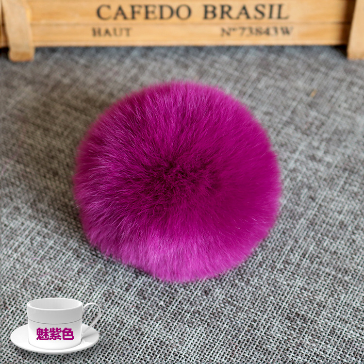 Fashion Soft Fluffy 8CM Faux Rabbit Fur Pom Pom Ball 20 Multicolor for Beanie Cap Accessories DIY-in DIY Craft Supplies from Home & Garden    3