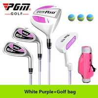 PGM Golf Rio Junior Children Complete Set Club Sof Lever Boy Gril Beginner Putter Wood Irons