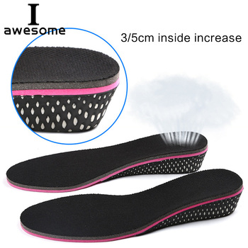 Height increase insoles for women 3/5 cm up invisiable arch support orthopedic insoles shock absorption black color increase height insoles height fabric sport insoles for heels for all shoes to increase height 1 5 cm 2 5 cm 3 5