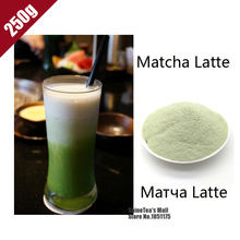 ShineTea 250g 100% Natural Organic Matcha Latte Green Tea Milk Powder Nutritious Breakfast  Japanese Style Weight Top Quality