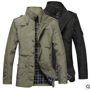 2016 spring autumn New Korean Slim explosion models hot sale men windbreaker coat fine high-grade windbreaker Cheap wholesale