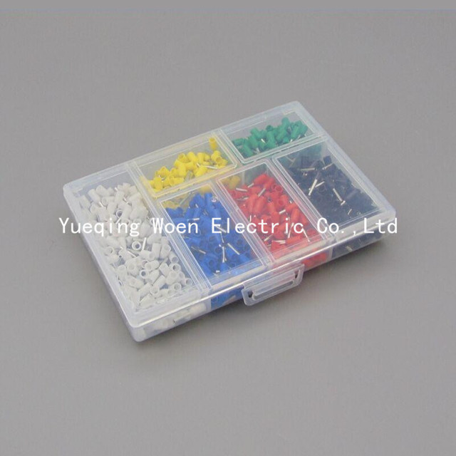850pcs/lot E7508 0.75mm 20AWG Bootlace cooper Ferrules kit set Wire ...