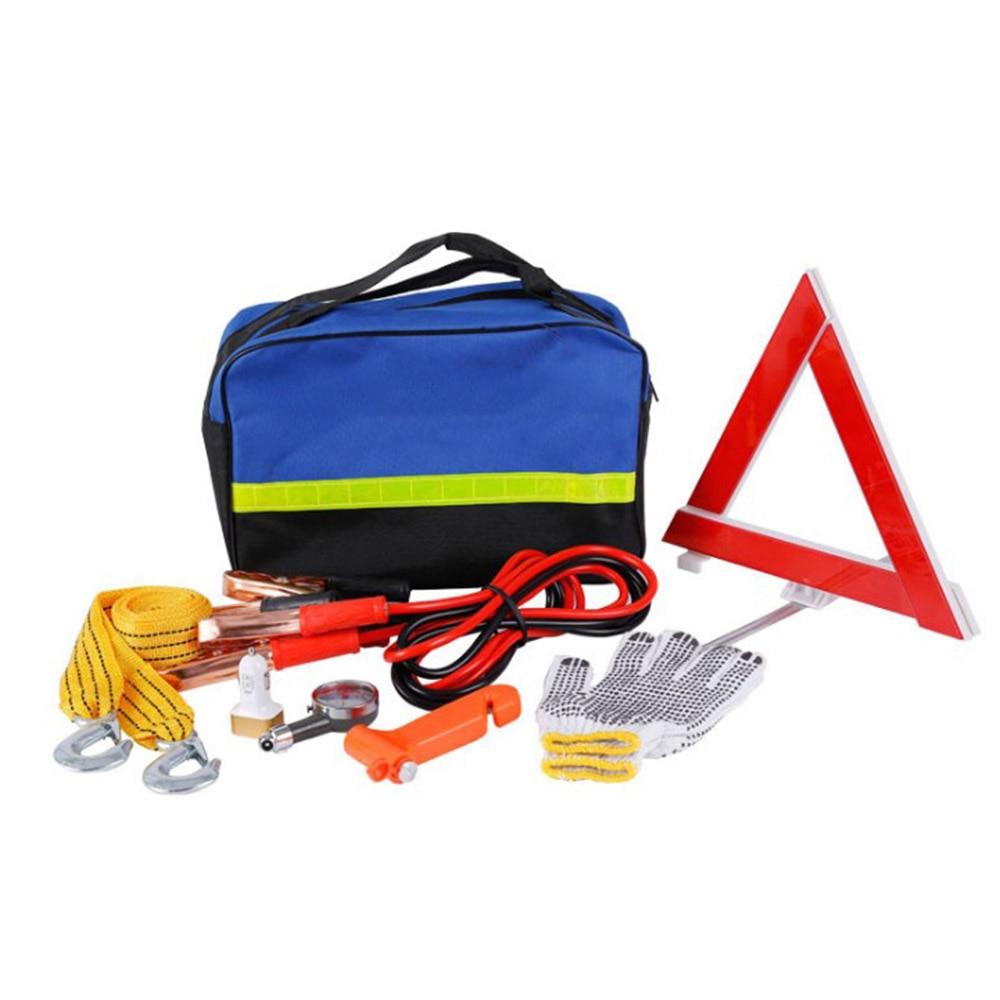 Sac multifonction de secours d'urgence pour véhicule Automobile camion jauge de pression des pneus trousse à outils outils de Maintenance trousse de premiers soins