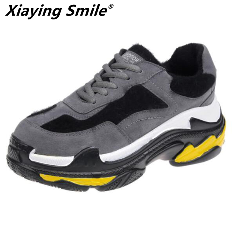 Xiaying Smile winter sneakers women running shoes outdoor sport shoes girls jogging boosts high quality size35-40