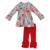 Natal Giggle Lua Remake Da Criança Meninas Roupas de Algodão Do Bebê Recém-nascido Roupas Conjuntos de Vestuário Boutique Plissado Atacado C002