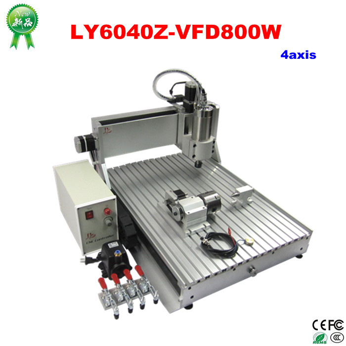 Hot Deals New LY6040Z-VFD800W 4Axis 110V/220V Universal Router Engraver CNC Woodworking Machine good and easy products water leak detection system water leak detection equipment water leak detector devices