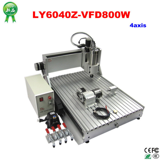 Hot Deals New LY6040Z-VFD800W 4Axis 110V/220V Universal Router Engraver CNC Woodworking Machine
