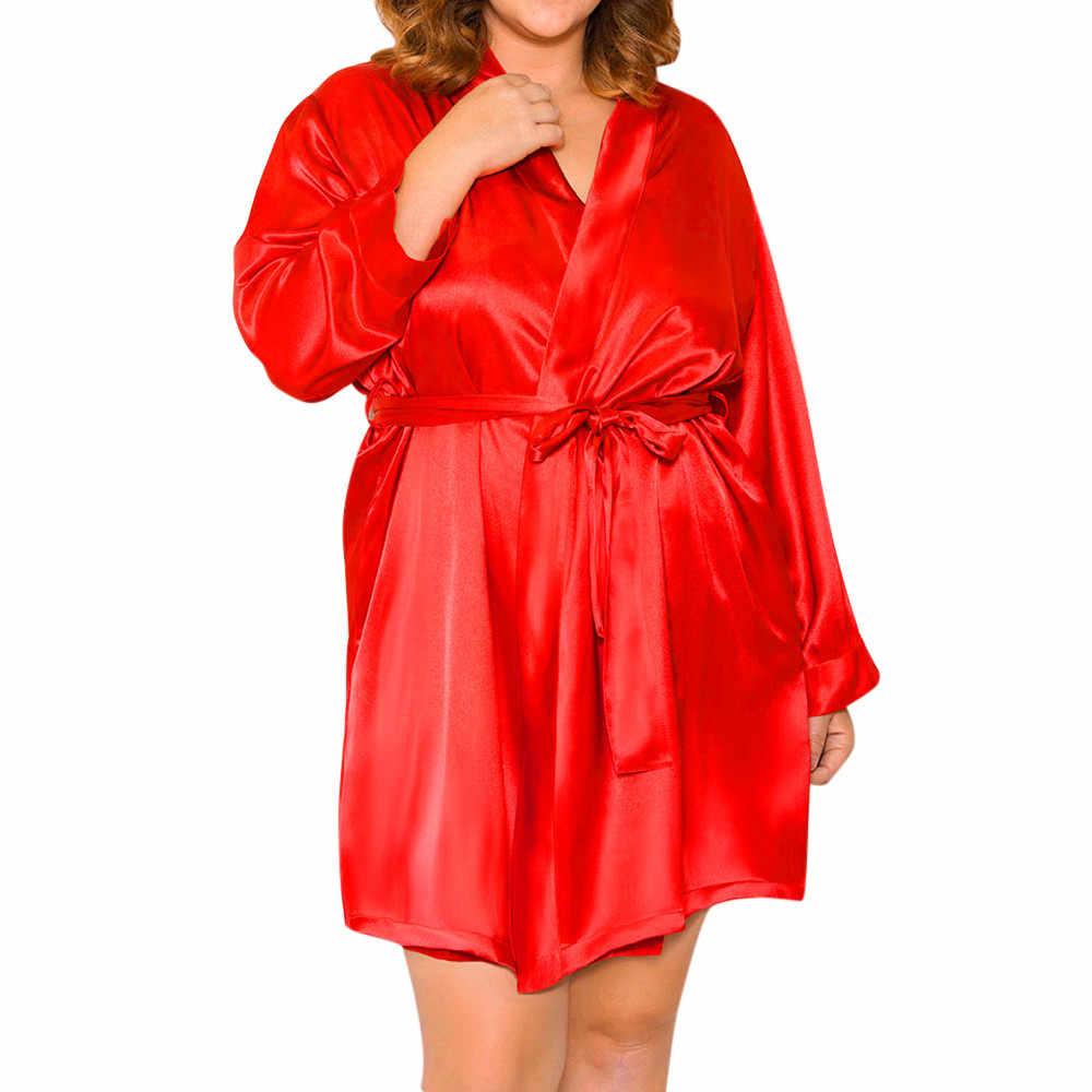 הלבשת סקסית חלוק הלבשה תחתונה נשים משי תחרה חלוק שמלת Babydoll כתנות הלילה כתונת לילה הלבשת nuisette femme de nuit מין