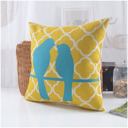 yellow cottage pillow and shams blue throw pillows watercolor gray project medallion product sham
