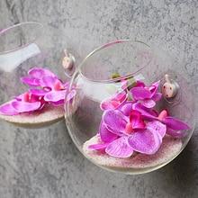 Горячая прозрачная стеклянная настенная ваза, бутылка для растений, цветов, террариума, контейнер для Xmax, подарок, сделай сам, украшение для дома, свадьбы