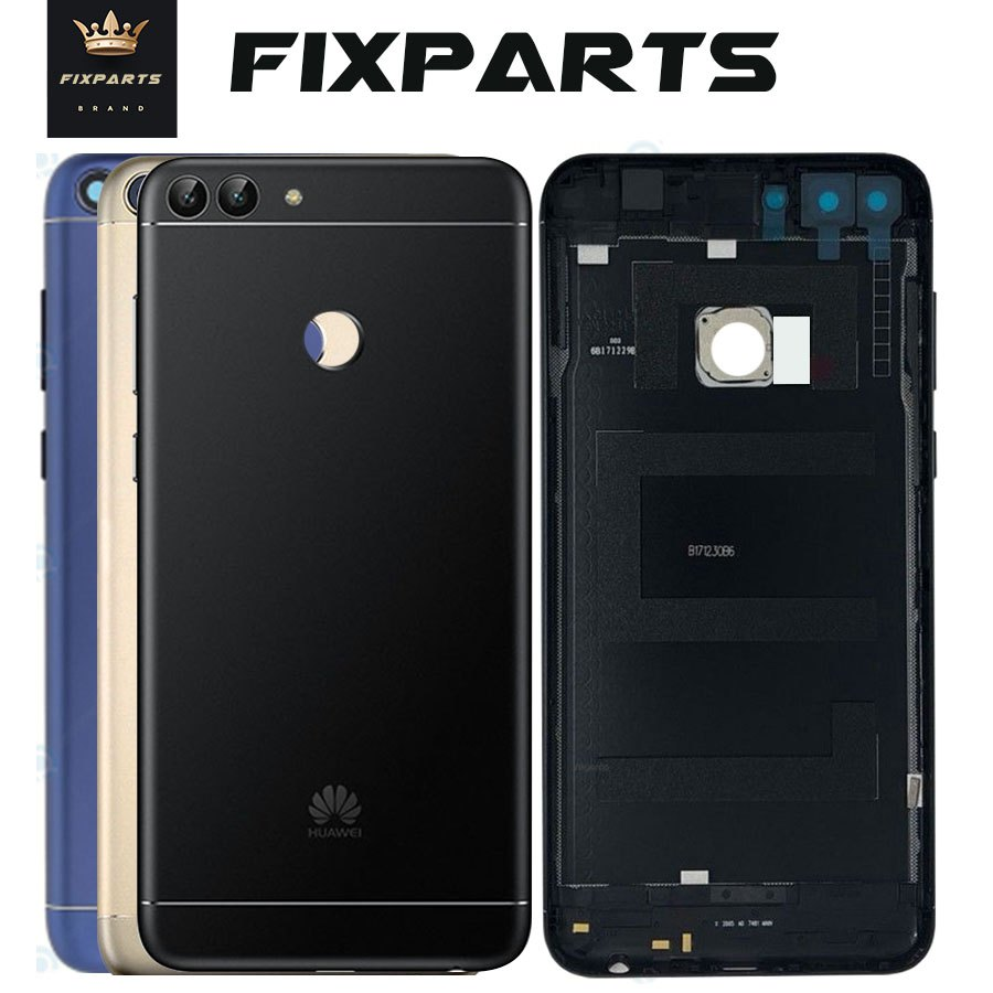 Original For Huawei P Smart Back Battery Cover Rear Housing Case Add Camera Lens Replace For Huawei Enjoy 7S Smart Battery Cover