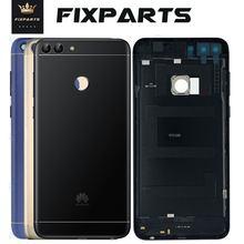 Oryginał dla Huawei P Smart Back pokrywa baterii obudowa tylna obudowa dodaj obiektyw aparatu wymień dla Huawei ciesz się inteligentną pokrywą baterii 7S