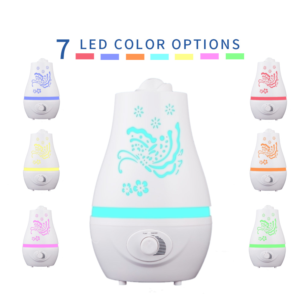 2000Ml Air Humidifier Aromatherapy Machine Aromatherapy Essential Oil Diffuser 7 Color LED Change Ultrasonic Home Office