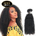 Grado 7A Mongoles Kinky Curly Hair Extensions 3 Bundles Fórmula Sexy Pelo Virginal Sin Procesar Rizado Rizado Armadura Virginal Del Pelo