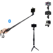 Mini Bluetooth Selfie Stick Yunteng Telescopic Monopod with Tripod For phone Gopro Xiaomi Iphone 6 6s 7 Samsung camera